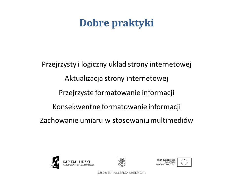 Dobre praktyki Przejrzysty i logiczny układ strony internetowej