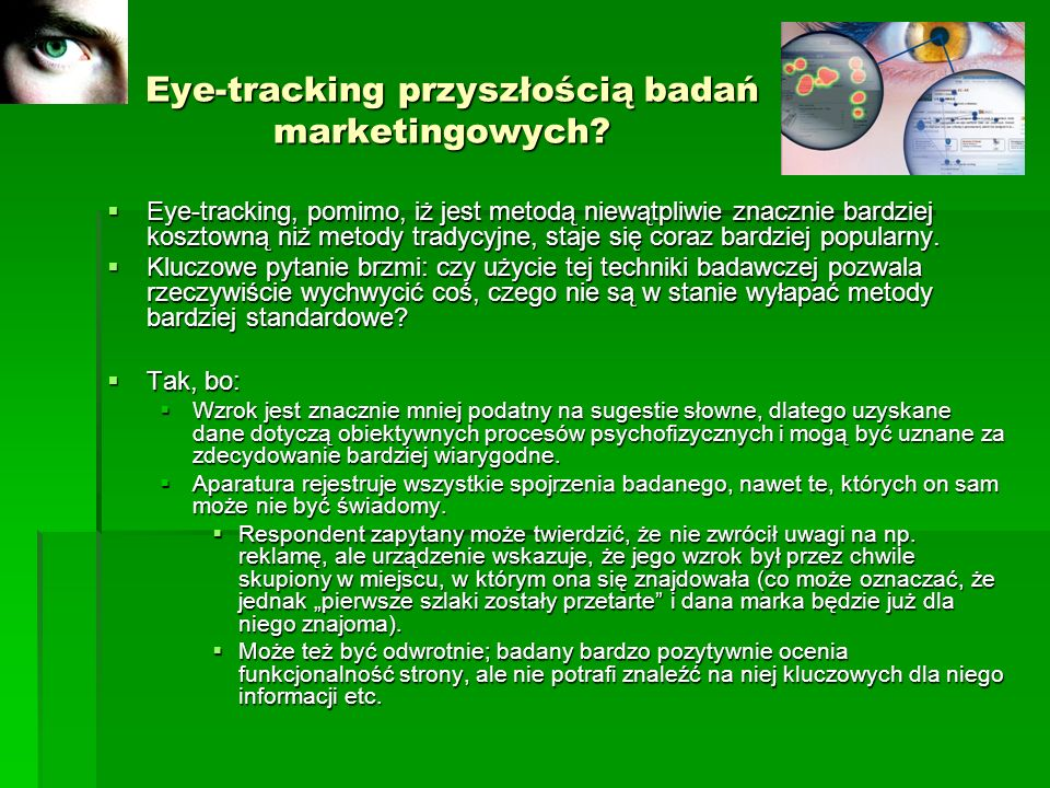 Eye-tracking przyszłością badań marketingowych