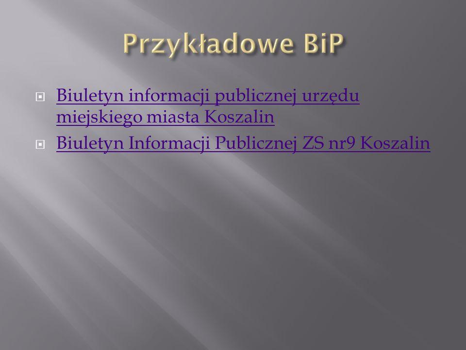 Biuletyn informacji publicznej urzędu miejskiego miasta Koszalin
