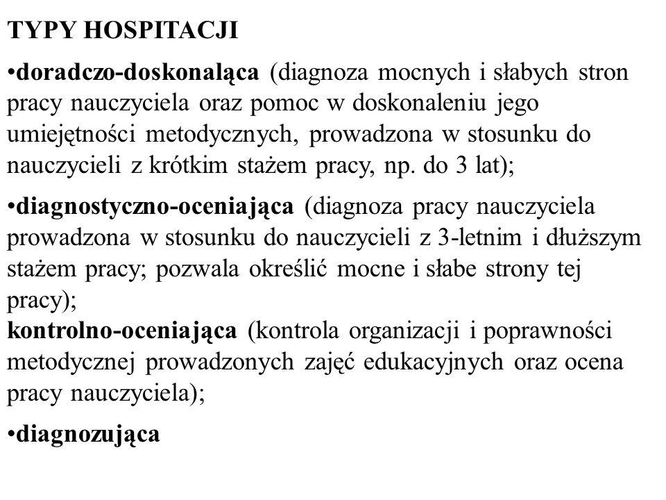 TYPY HOSPITACJI
