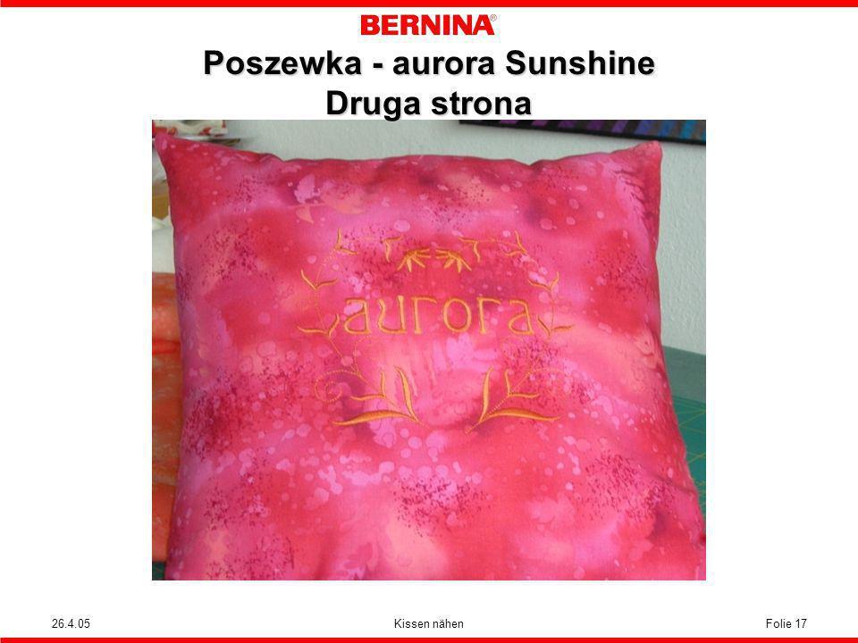Poszewka - aurora Sunshine Druga strona