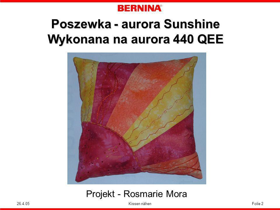 Poszewka - aurora Sunshine Wykonana na aurora 440 QEE