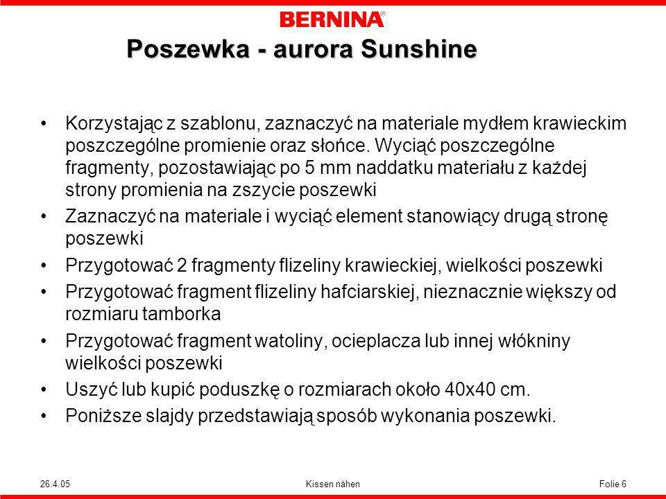 Poszewka - aurora Sunshine