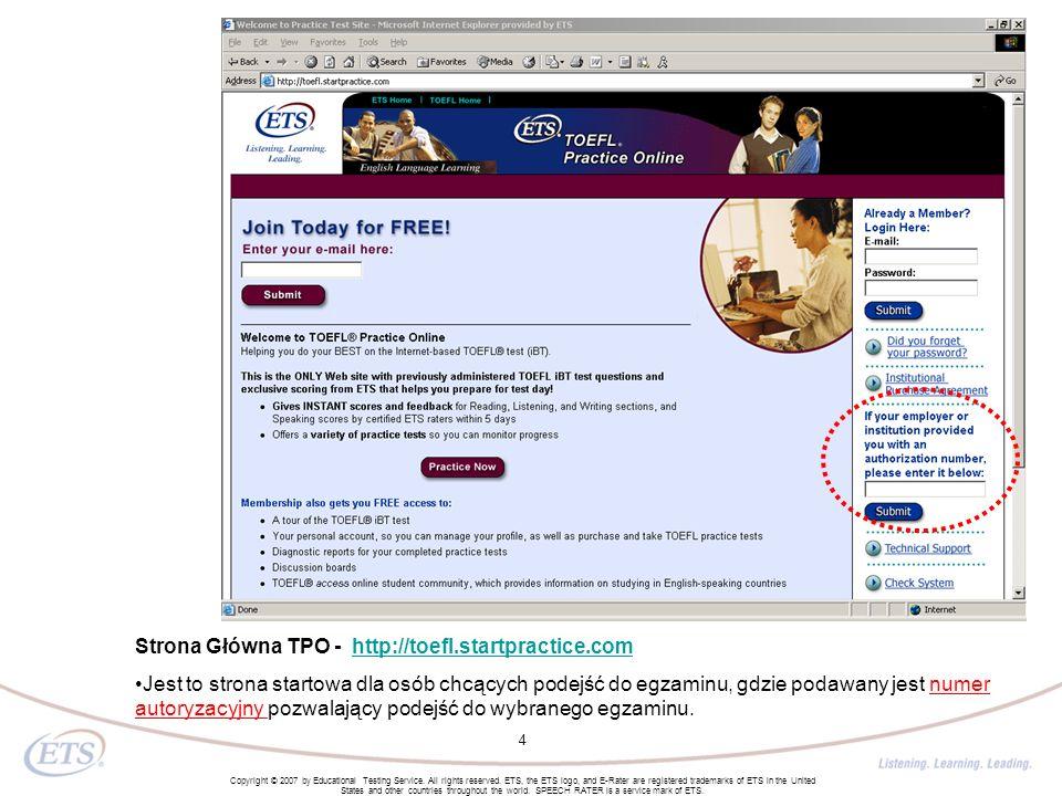 Strona Główna TPO - http://toefl.startpractice.com
