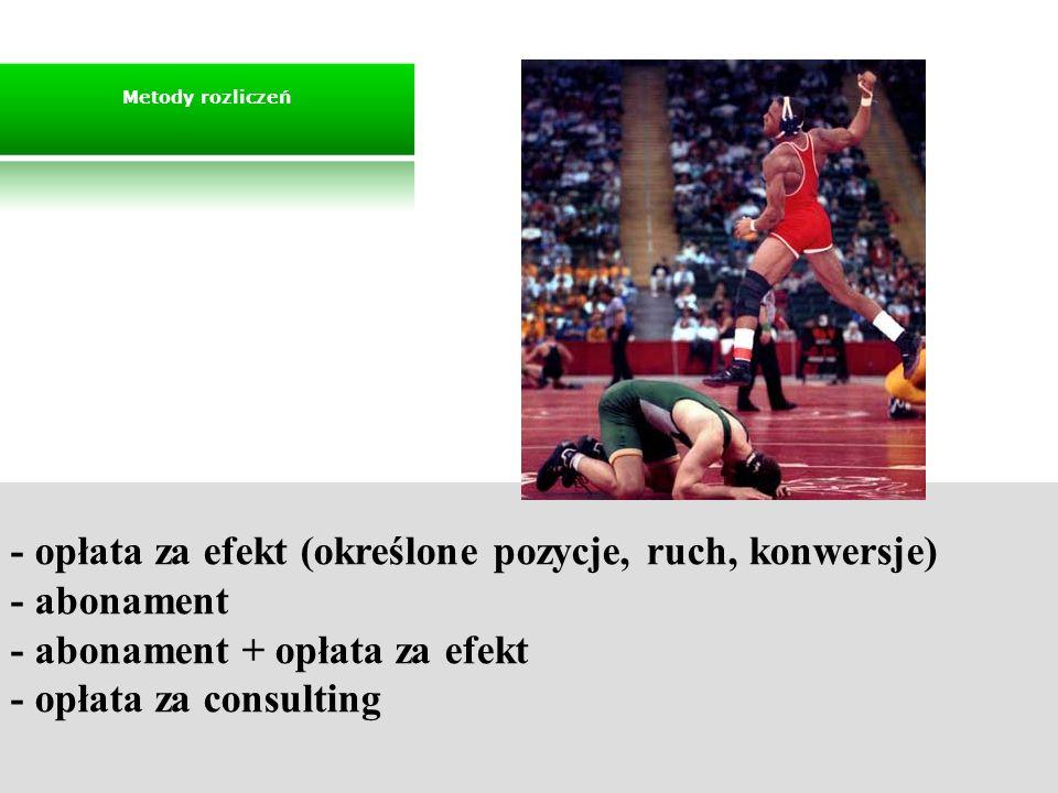 - opłata za efekt (określone pozycje, ruch, konwersje) - abonament
