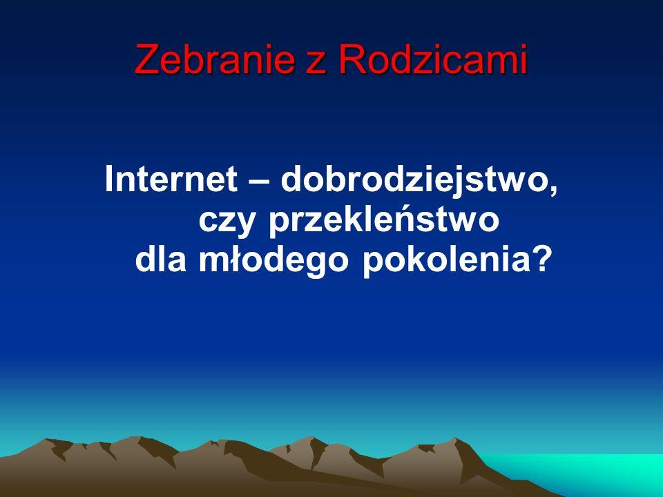 Internet – dobrodziejstwo, czy przekleństwo dla młodego pokolenia