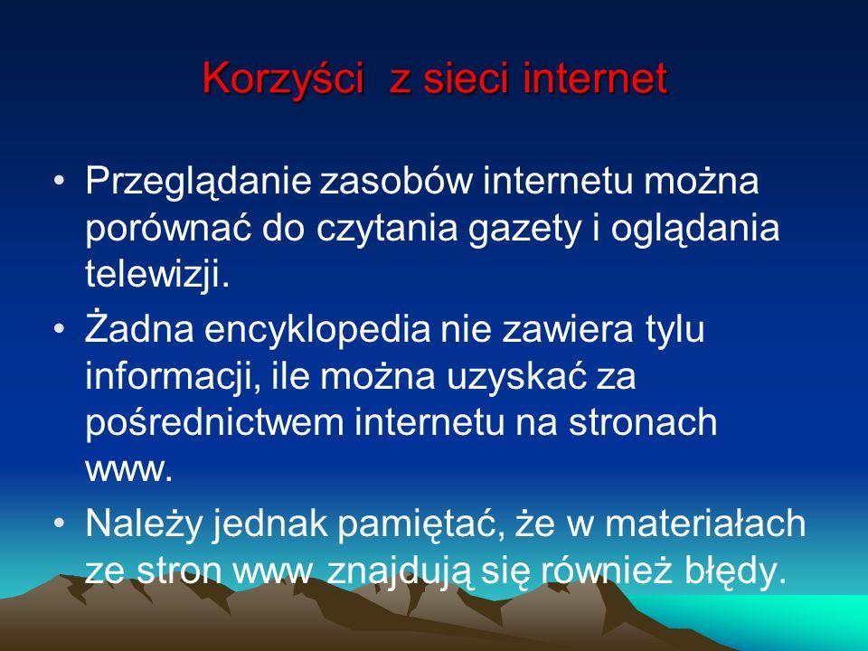Korzyści z sieci internet