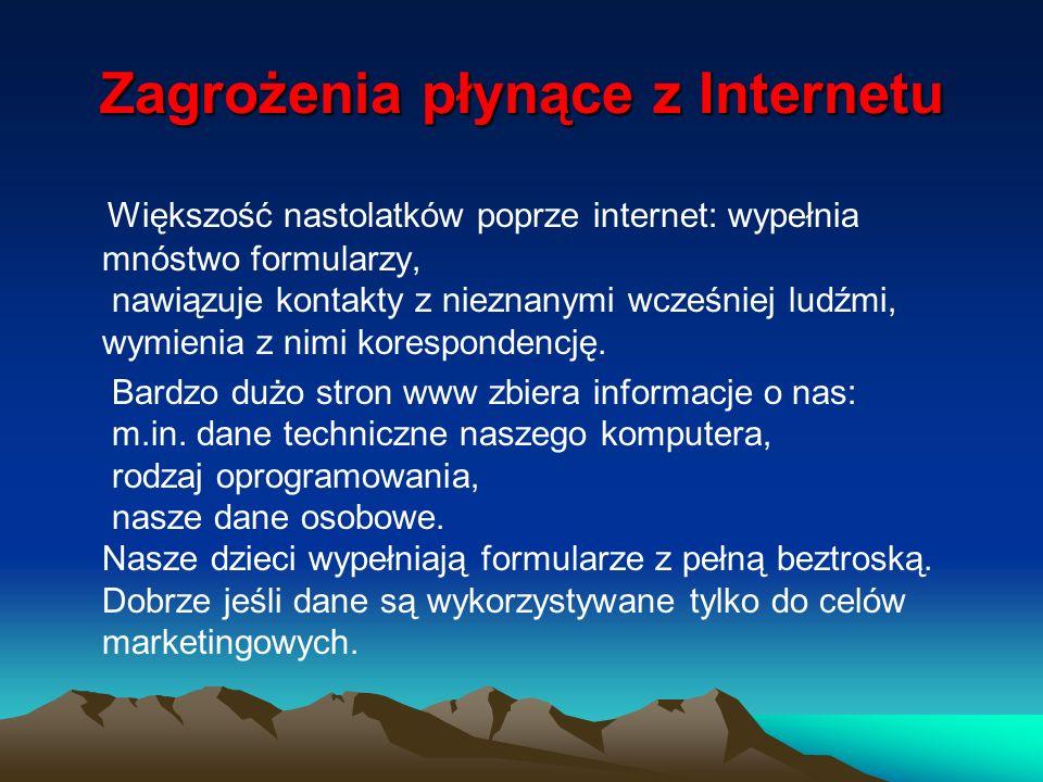 Zagrożenia płynące z Internetu