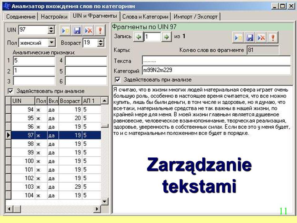Zarządzanie tekstami 11