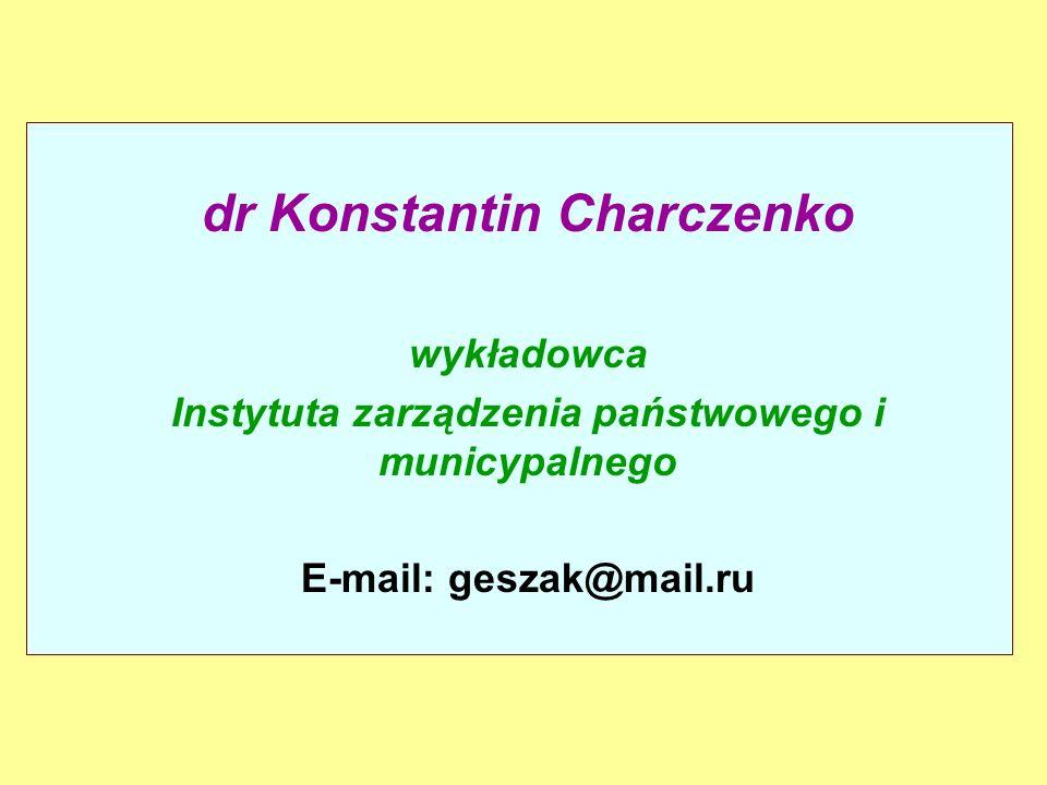 dr Konstantin Charczenko
