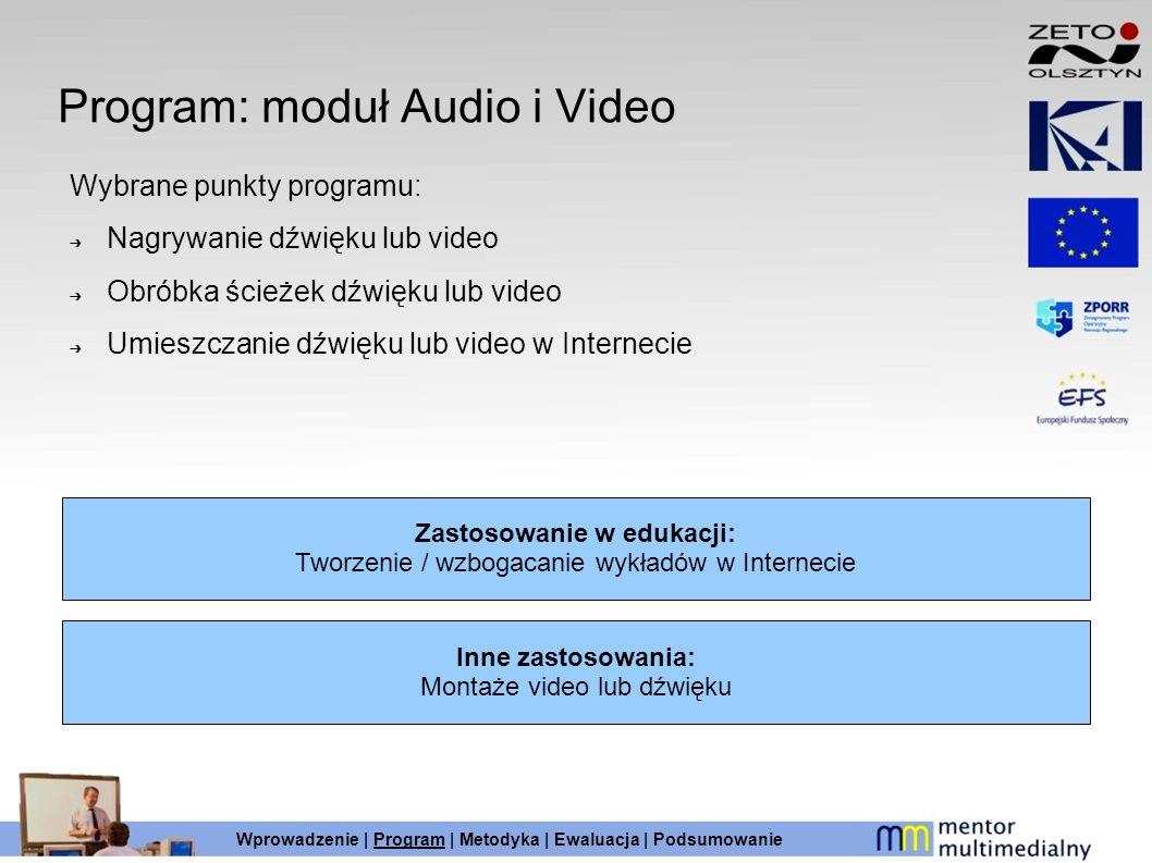 Program: moduł Audio i Video