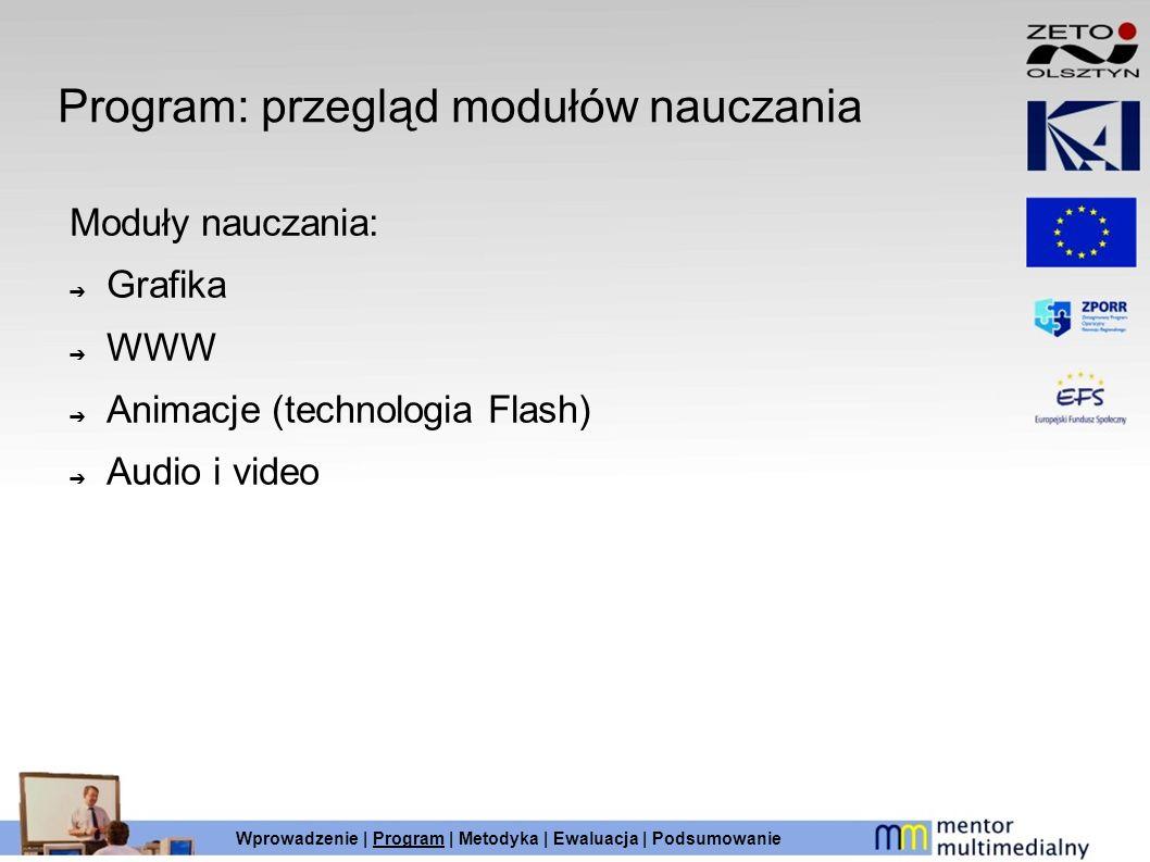 Program: przegląd modułów nauczania