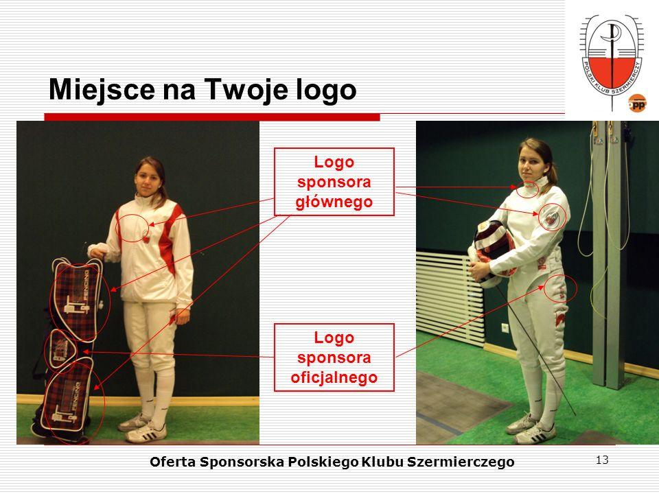 Miejsce na Twoje logo Logo sponsora głównego Logo sponsora oficjalnego