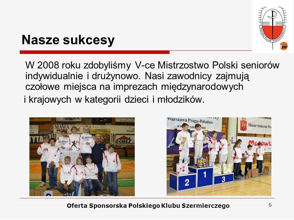 Oferta Sponsorska Polskiego Klubu Szermierczego