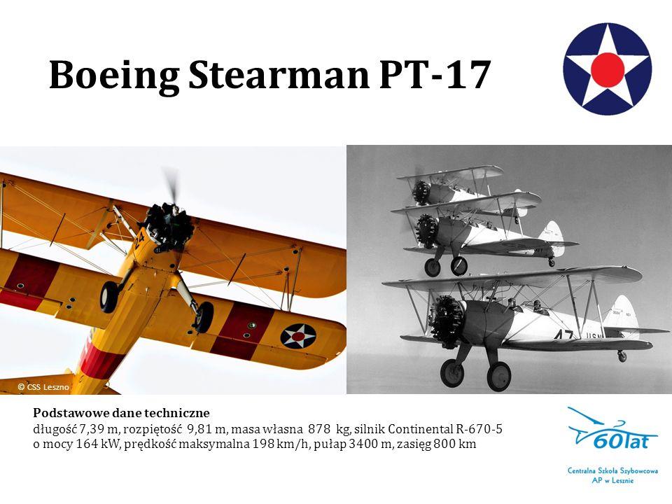 Boeing Stearman PT-17 Podstawowe dane techniczne