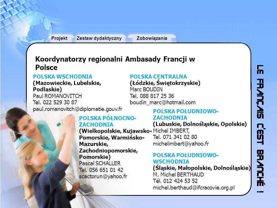 Koordynatorzy regionalni Ambasady Francji w Polsce