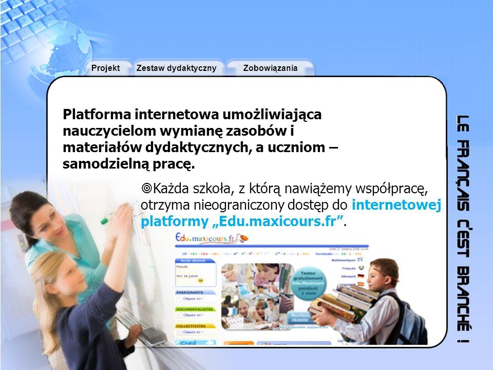 Platforma internetowa umożliwiająca nauczycielom wymianę zasobów i materiałów dydaktycznych, a uczniom – samodzielną pracę.