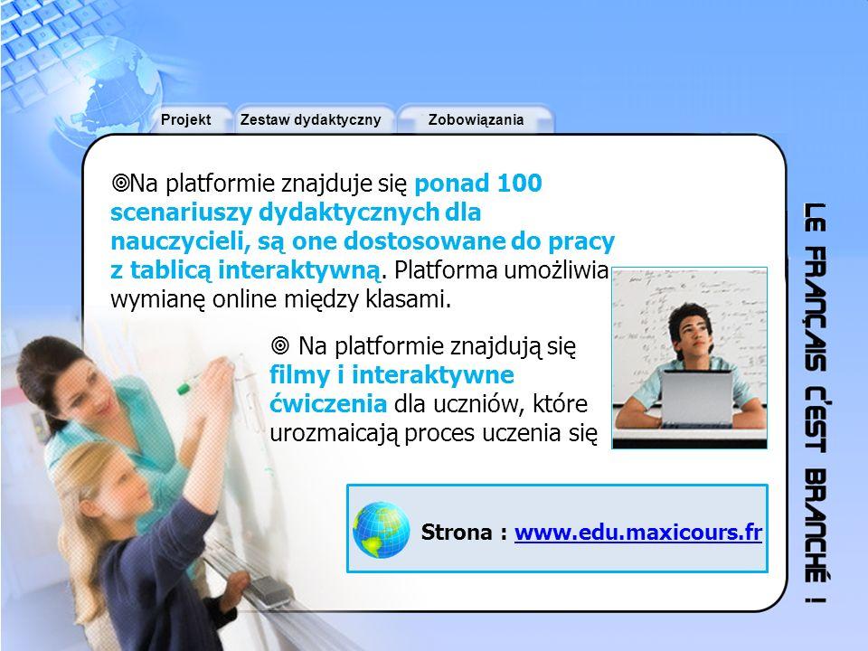 Na platformie znajduje się ponad 100 scenariuszy dydaktycznych dla nauczycieli, są one dostosowane do pracy z tablicą interaktywną. Platforma umożliwia wymianę online między klasami.