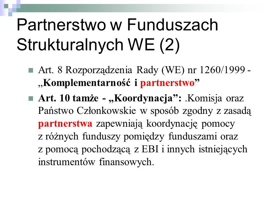 Partnerstwo w Funduszach Strukturalnych WE (2)