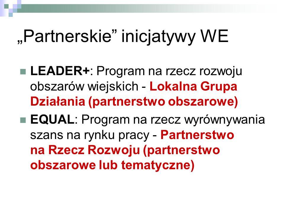 """""""Partnerskie inicjatywy WE"""