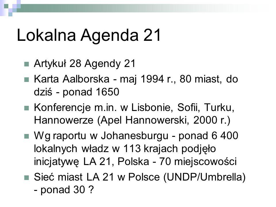 Lokalna Agenda 21 Artykuł 28 Agendy 21