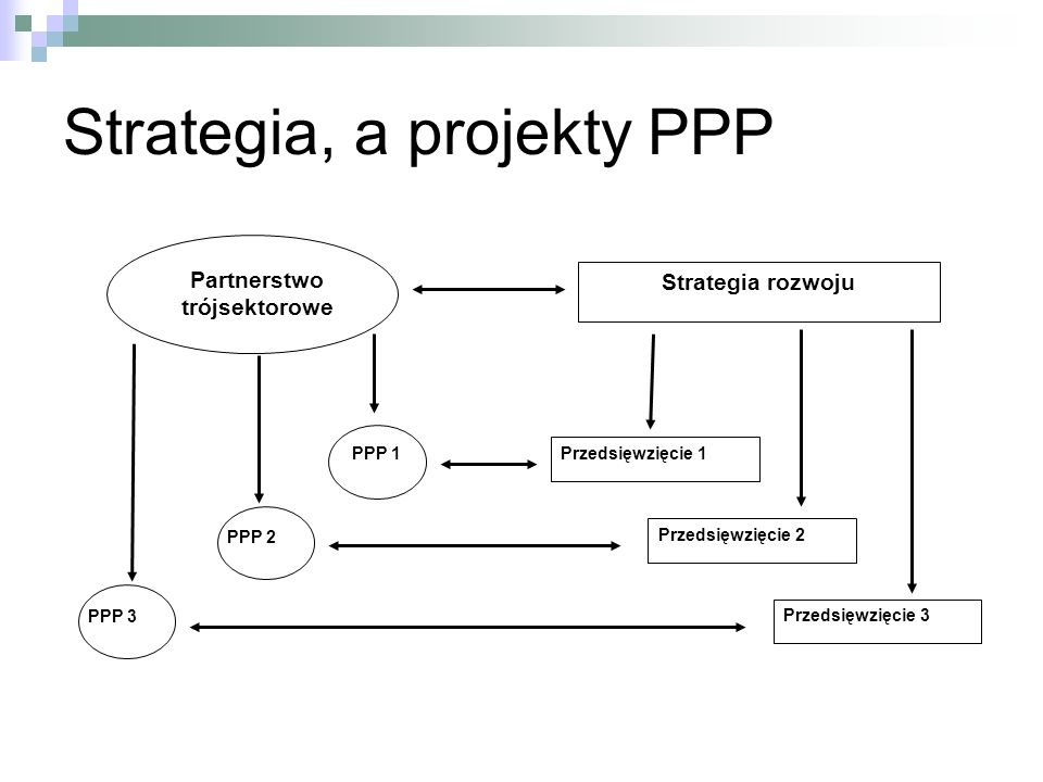 Strategia, a projekty PPP