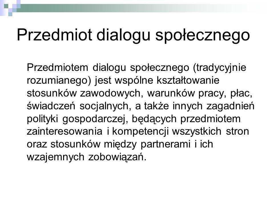Przedmiot dialogu społecznego