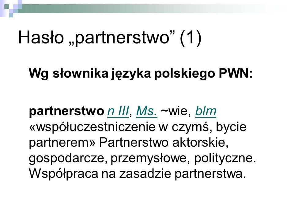 """Hasło """"partnerstwo (1)"""