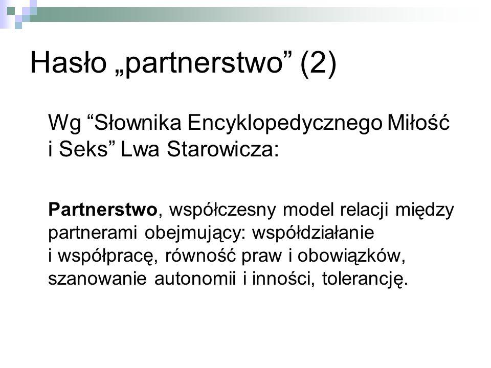 """Hasło """"partnerstwo (2)"""