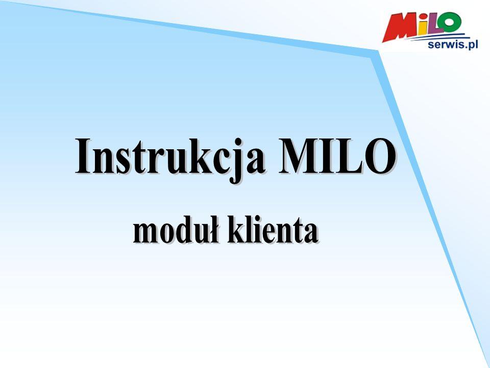 Instrukcja MILO moduł klienta