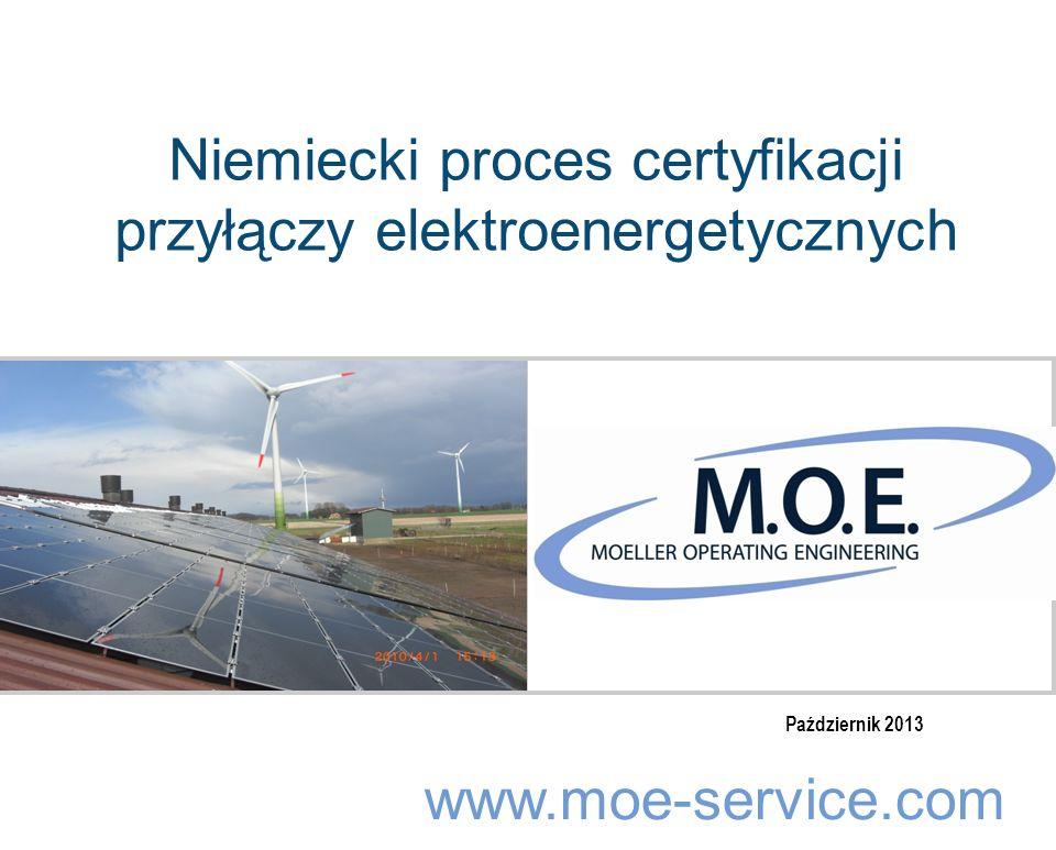 Niemiecki proces certyfikacji przyłączy elektroenergetycznych