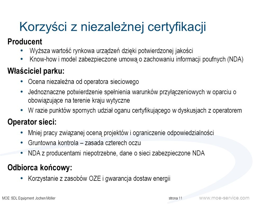 Korzyści z niezależnej certyfikacji
