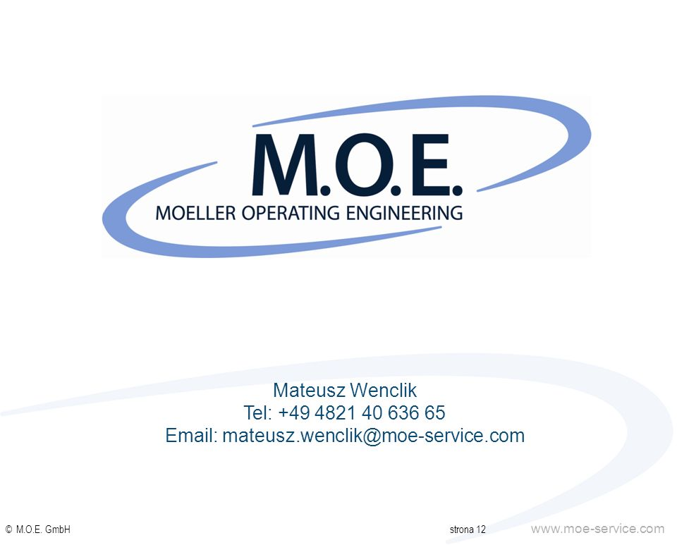 Email: mateusz.wenclik@moe-service.com