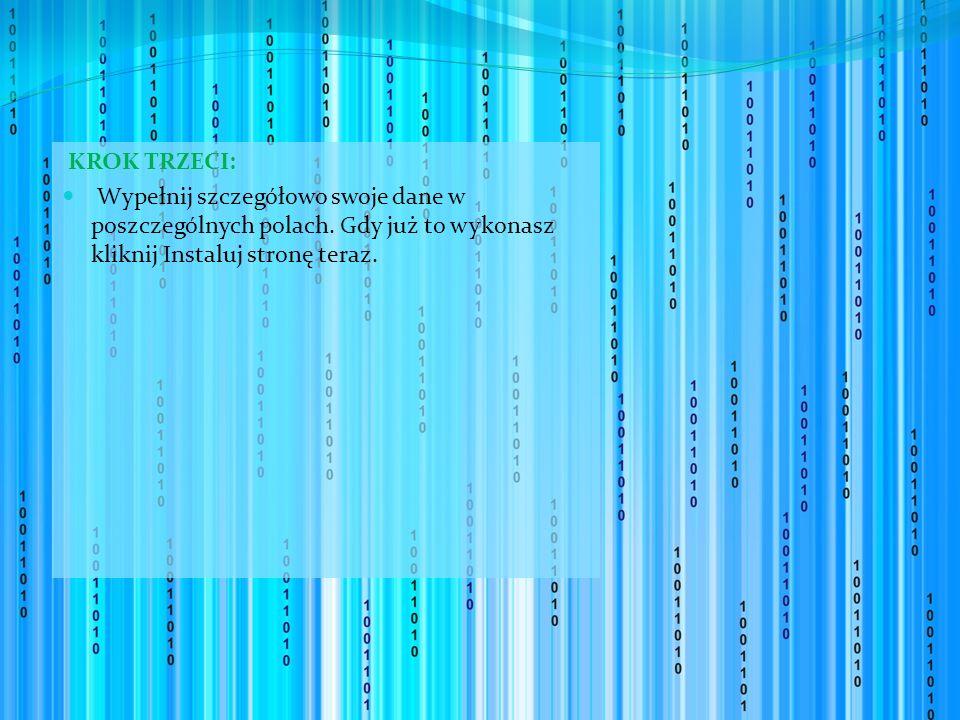 KROK TRZECI: Wypełnij szczegółowo swoje dane w poszczególnych polach.