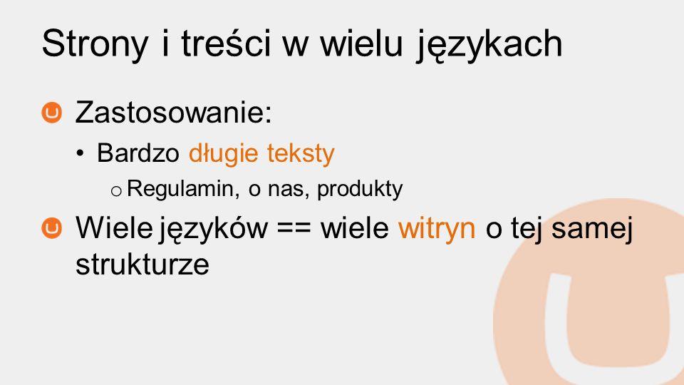 Strony i treści w wielu językach