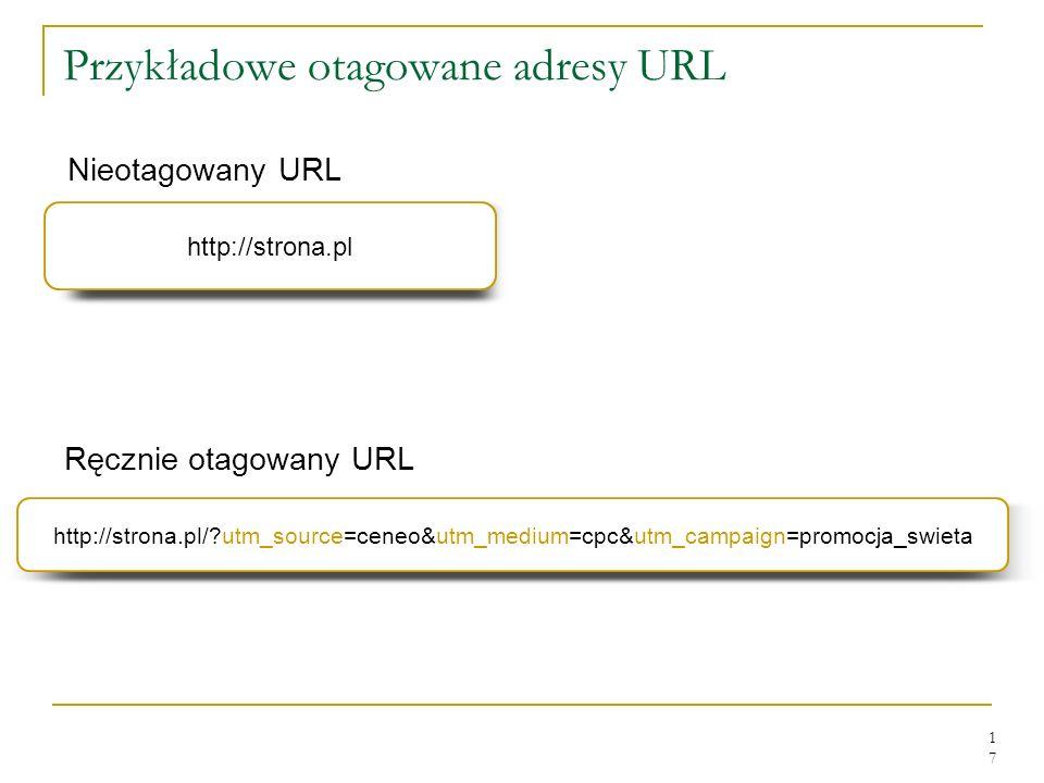 Przykładowe otagowane adresy URL