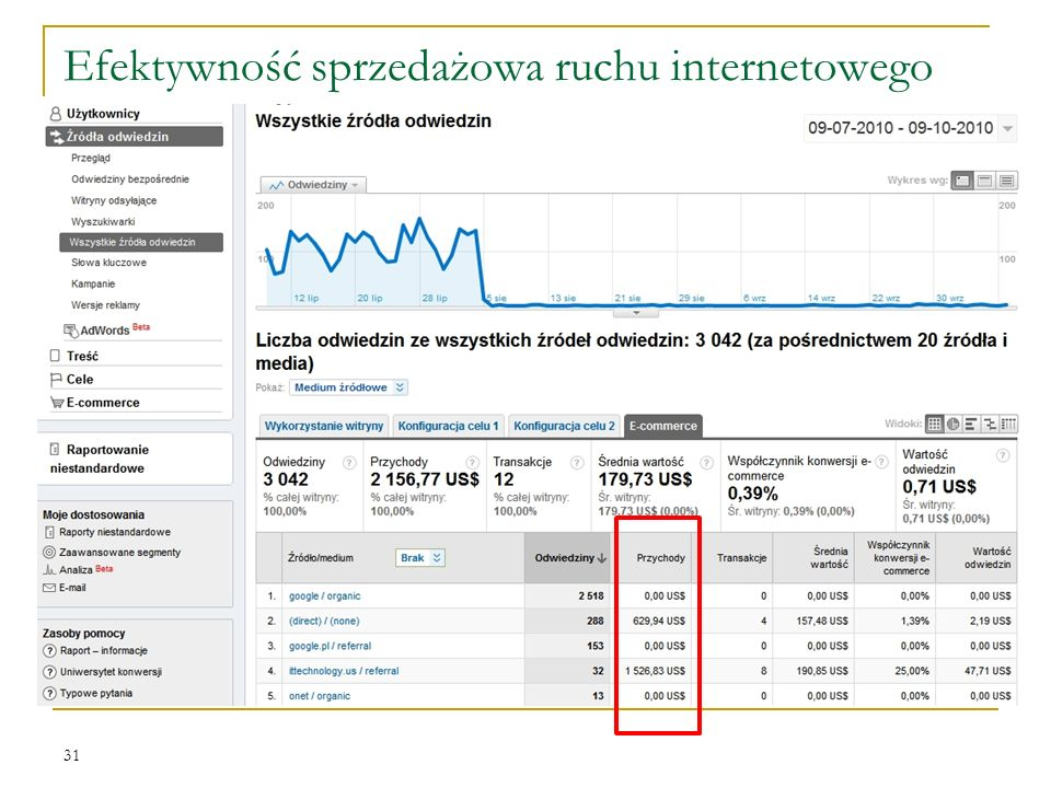 Efektywność sprzedażowa ruchu internetowego