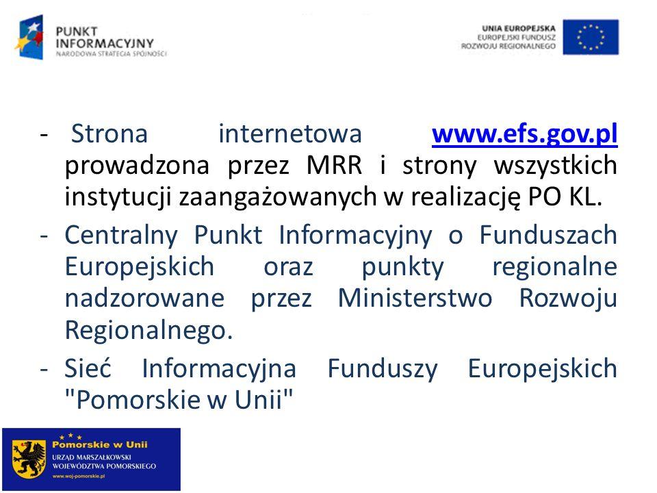 Strona internetowa www. efs. gov
