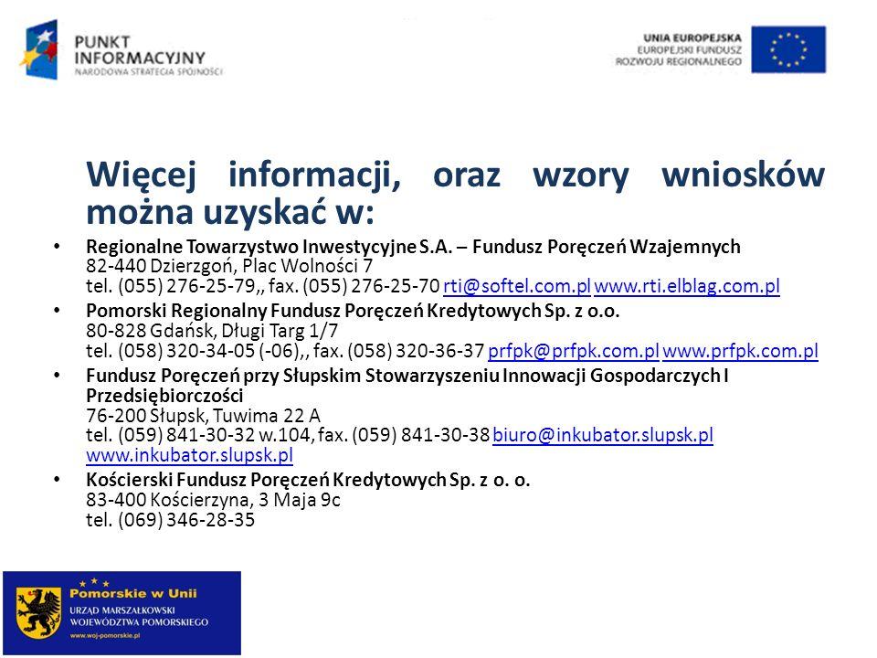 Więcej informacji, oraz wzory wniosków można uzyskać w: