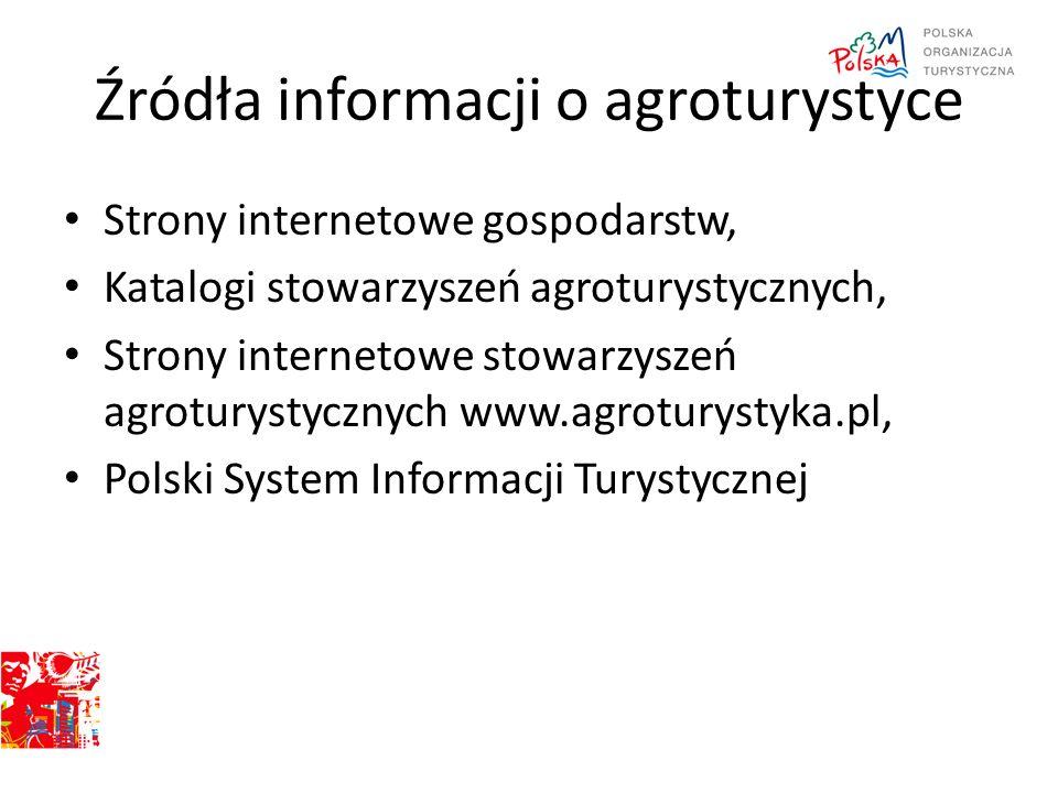 Źródła informacji o agroturystyce