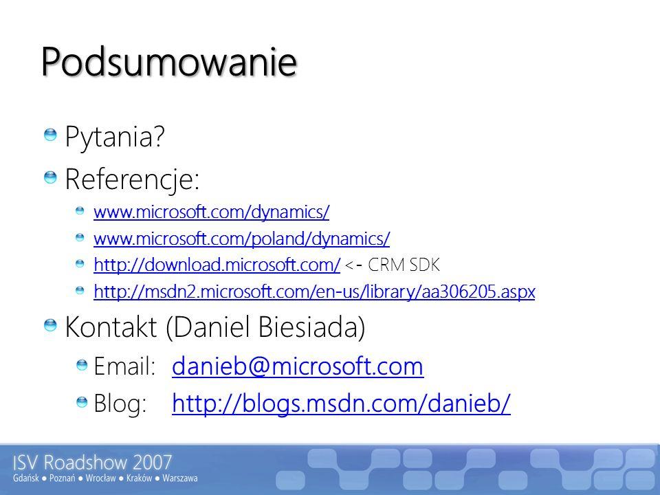 Podsumowanie Pytania Referencje: Kontakt (Daniel Biesiada)