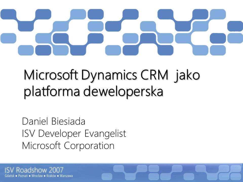 Microsoft Dynamics CRM jako platforma deweloperska
