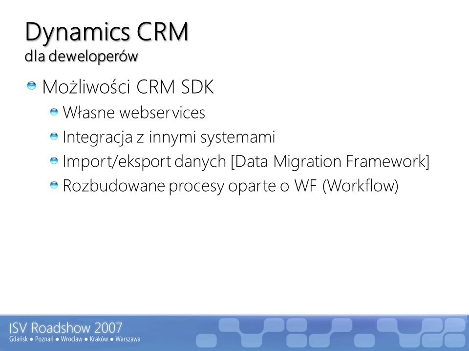 Dynamics CRM dla deweloperów