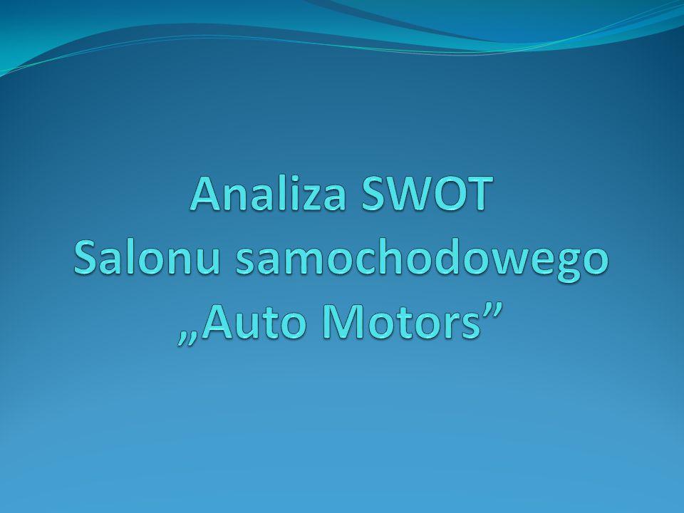 """Analiza SWOT Salonu samochodowego """"Auto Motors"""