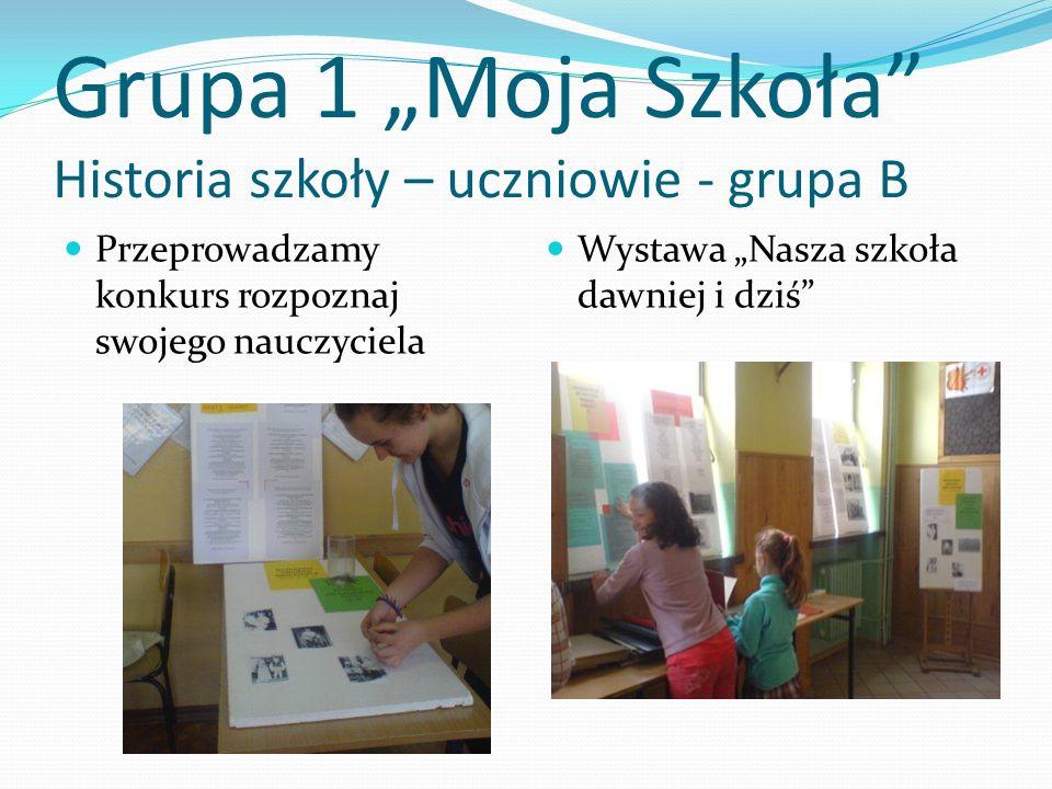 """Grupa 1 """"Moja Szkoła Historia szkoły – uczniowie - grupa B"""