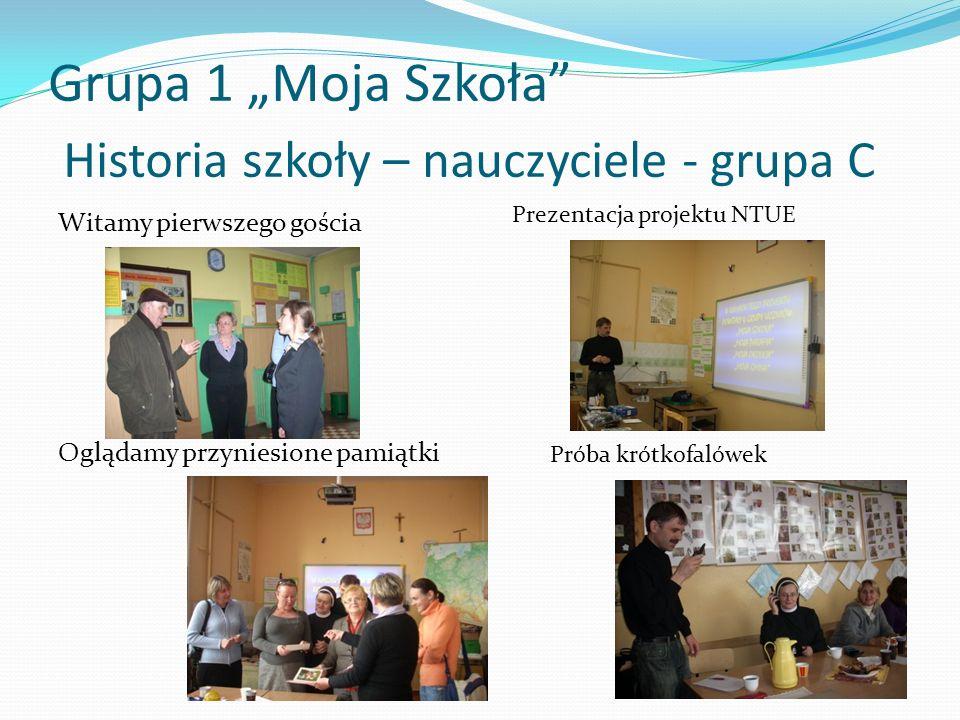 """Grupa 1 """"Moja Szkoła Historia szkoły – nauczyciele - grupa C"""