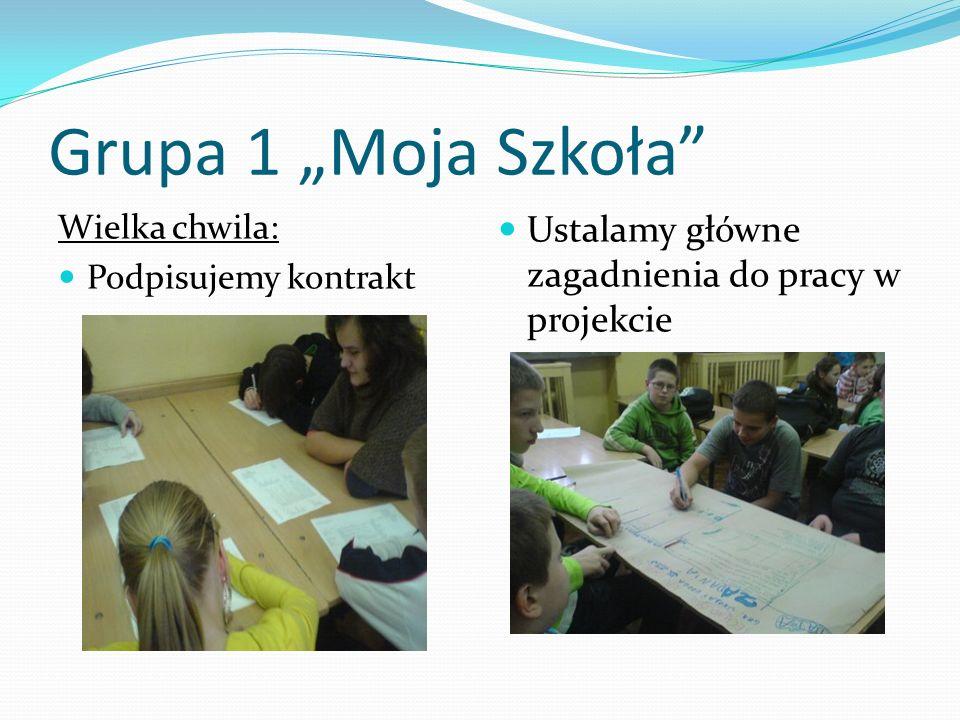 """Grupa 1 """"Moja Szkoła Ustalamy główne zagadnienia do pracy w projekcie"""
