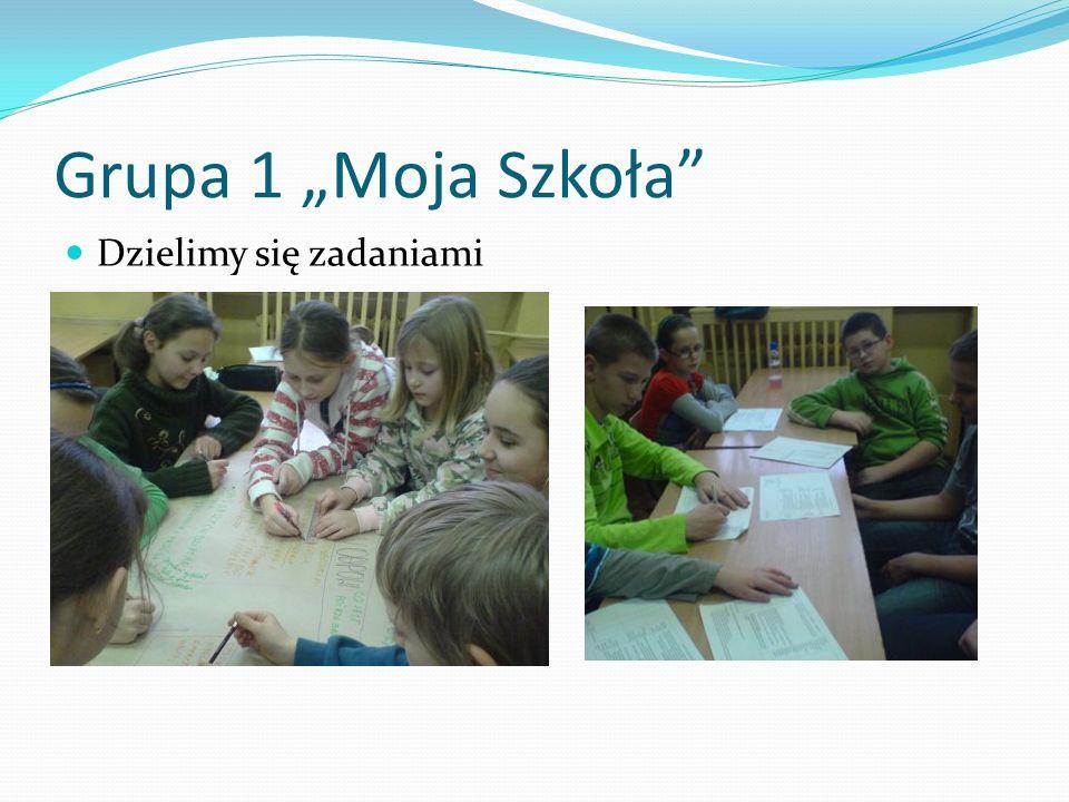 """Grupa 1 """"Moja Szkoła Dzielimy się zadaniami"""