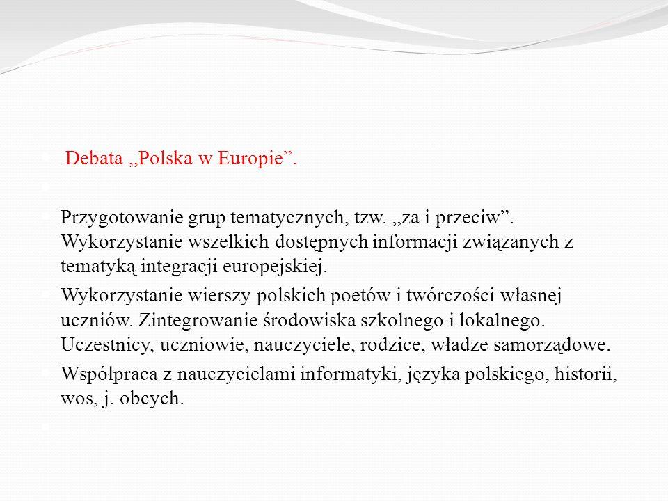 Debata ,,Polska w Europie .