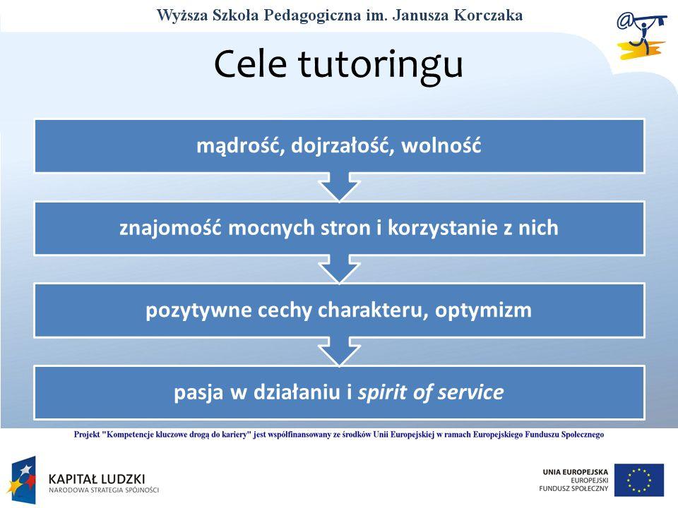 Cele tutoringu mądrość, dojrzałość, wolność